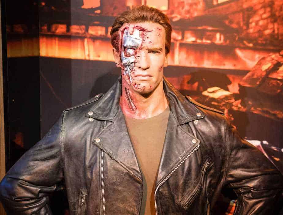 Arnold Schwarzenegger as the Terminator - machines versus humans