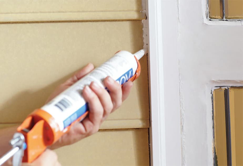 Caulking and weatherstripping your home