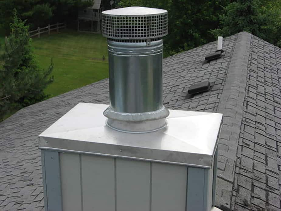 Chimney cover for winter time