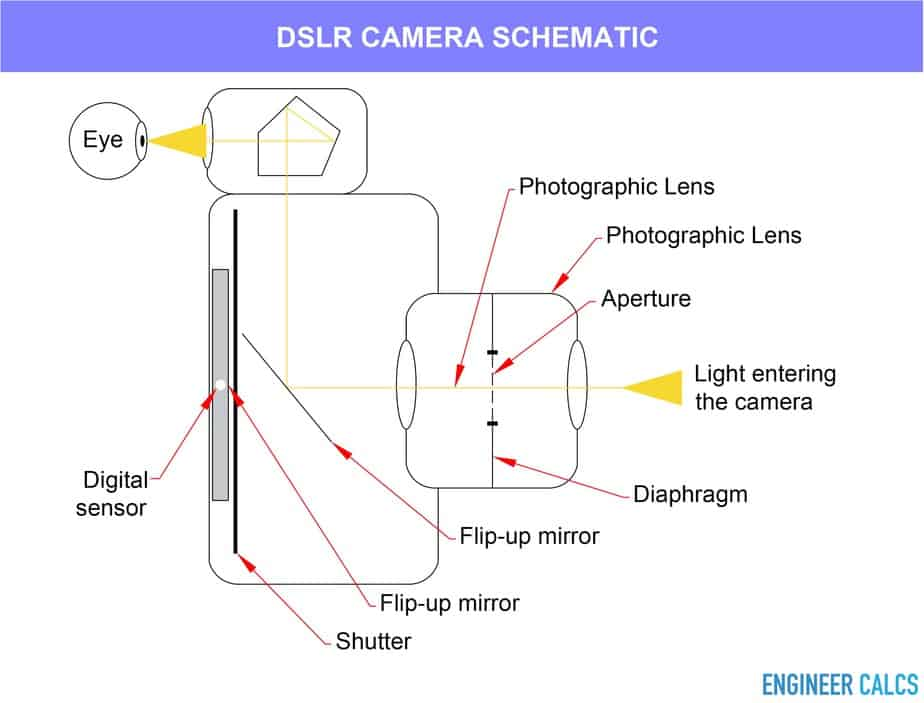 Digital single lens reflex camera schematic