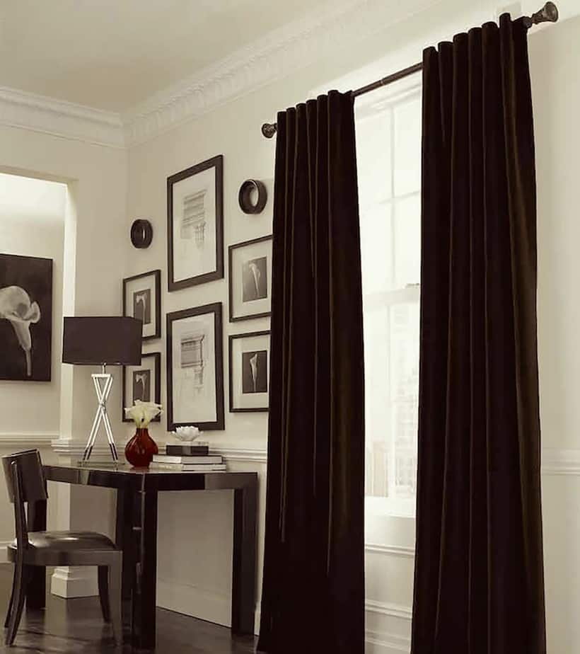 Heavy drapes to prevent heat loss