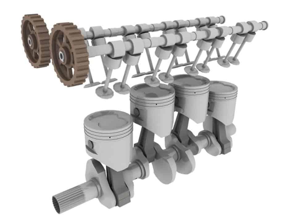 Internal combustion engine crank shaft