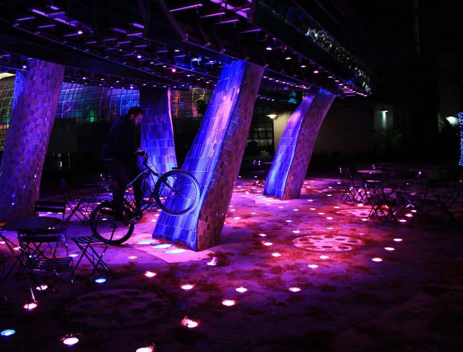 Colorful LED bike park