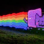 Colorful fun LED light rainbow