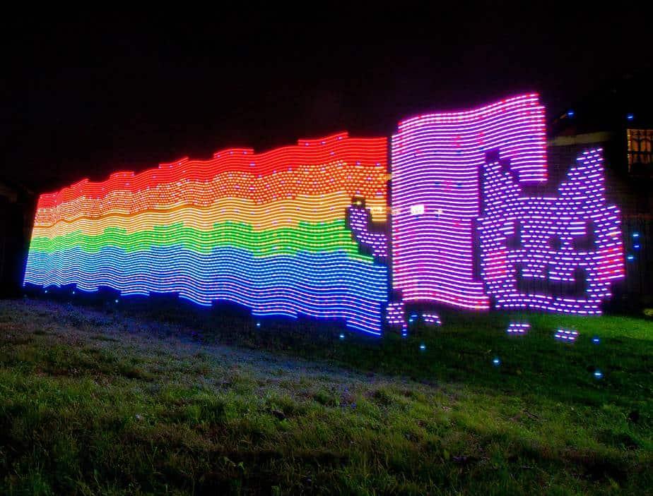 Colorful fun LED light rainbow