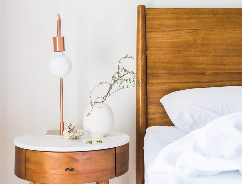 Polished wood furniture