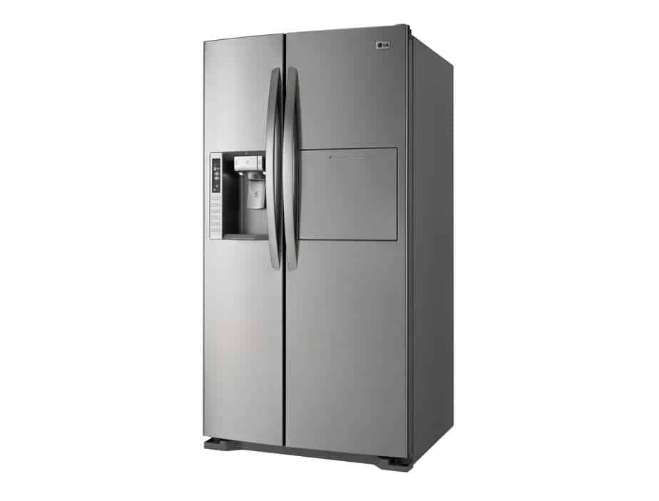 Side by side refrigerator freezer