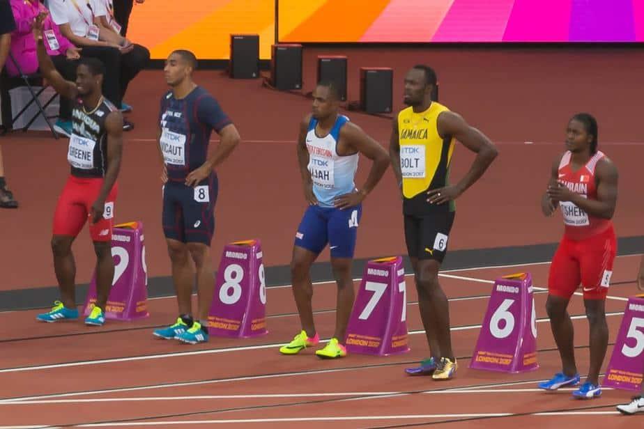 Usain Bolt height 6 feet 5 inches
