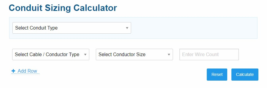 how to calculate conduit size for cables - step 1