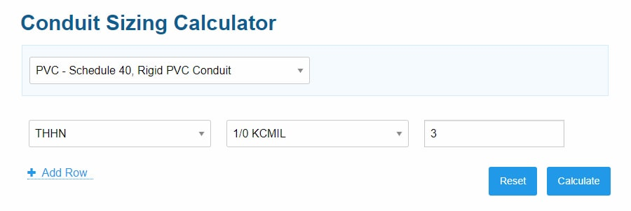how to calculate conduit size for cables - step 2