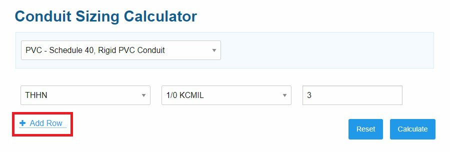 how to calculate conduit size for cables - step 3