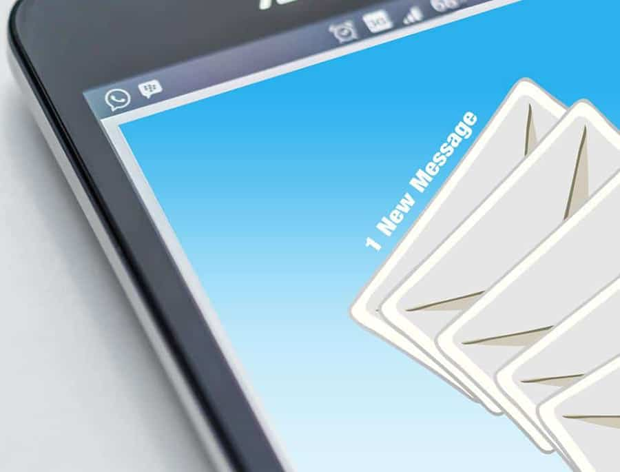 sending email on electronic device