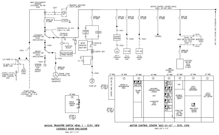 detailed electrical engineering design work