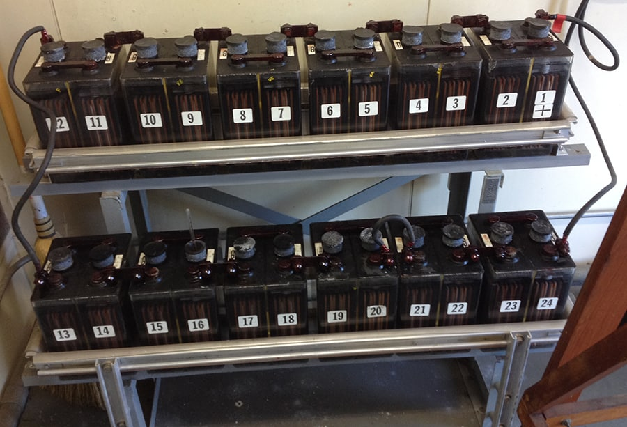 batteries in substation control room