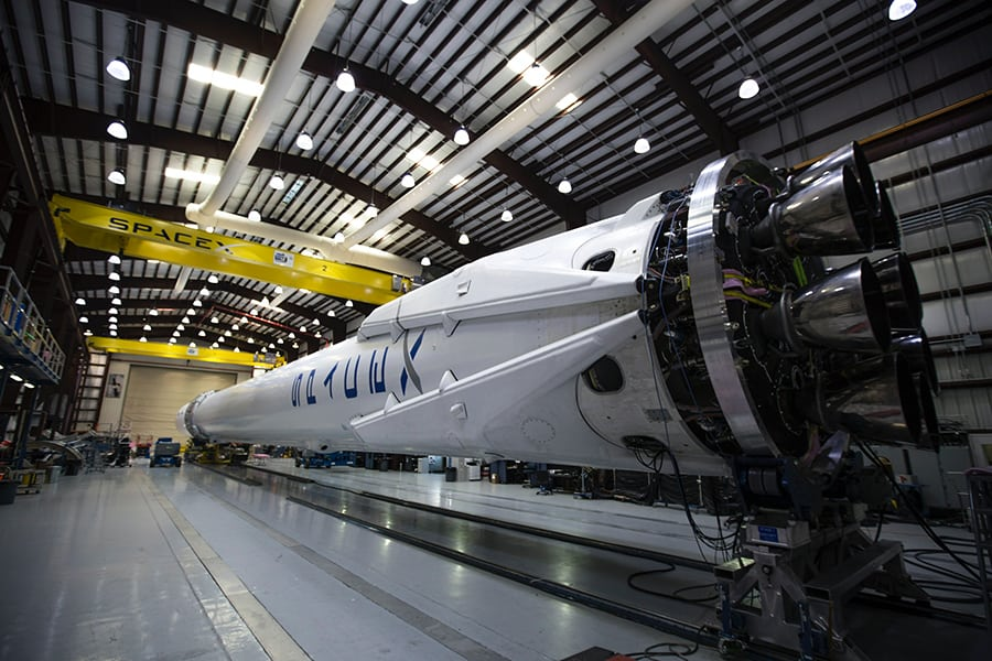 spacex rocket at cape canaveral air force station