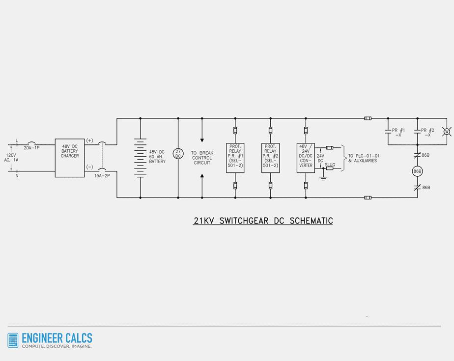 21kv switchgear dc schematic