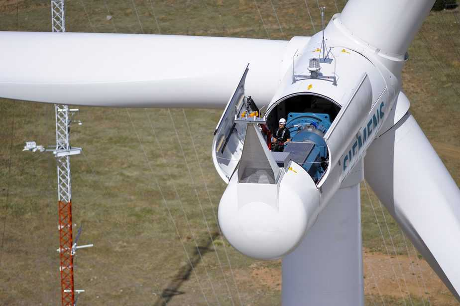 aerial view of the national wind technology center