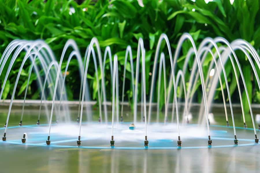 designing a fountain in backyard