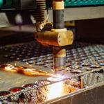 machine cutting sheet metal