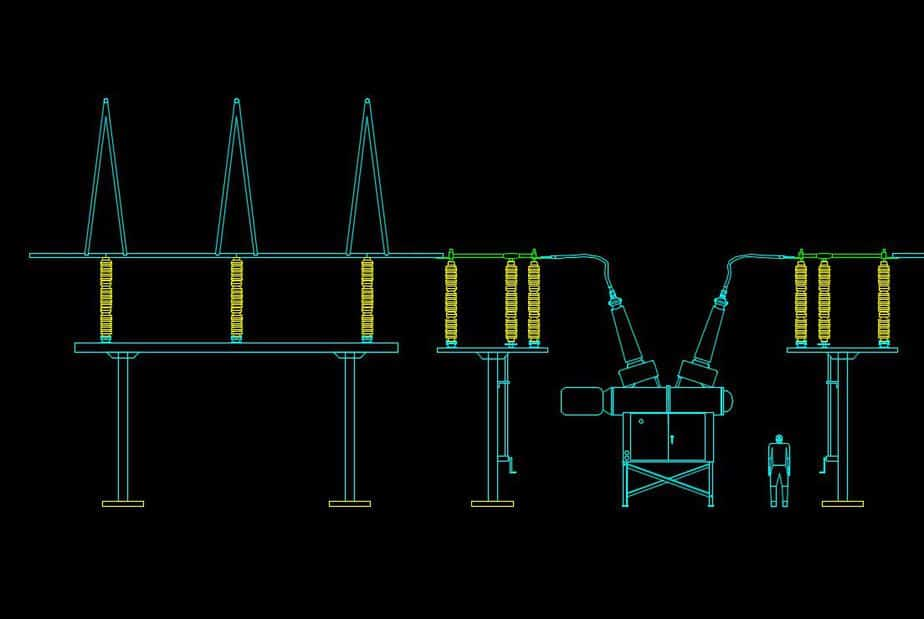switchyard autocad drawing