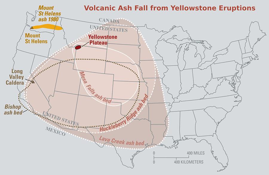 yellowstone volcano ash beds