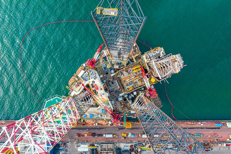 drilling rig top view