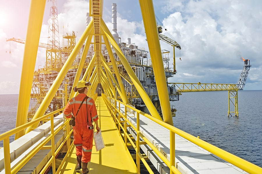oil gas platform construction platform