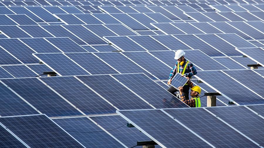 renewable energy with solar power