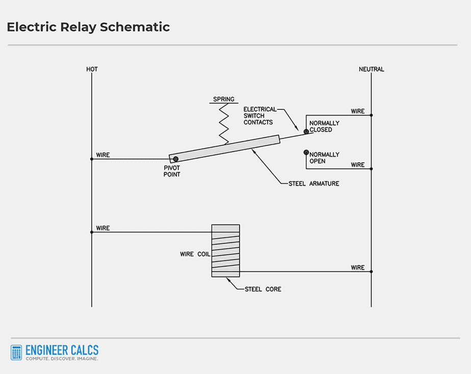 electric relay control schematic 1
