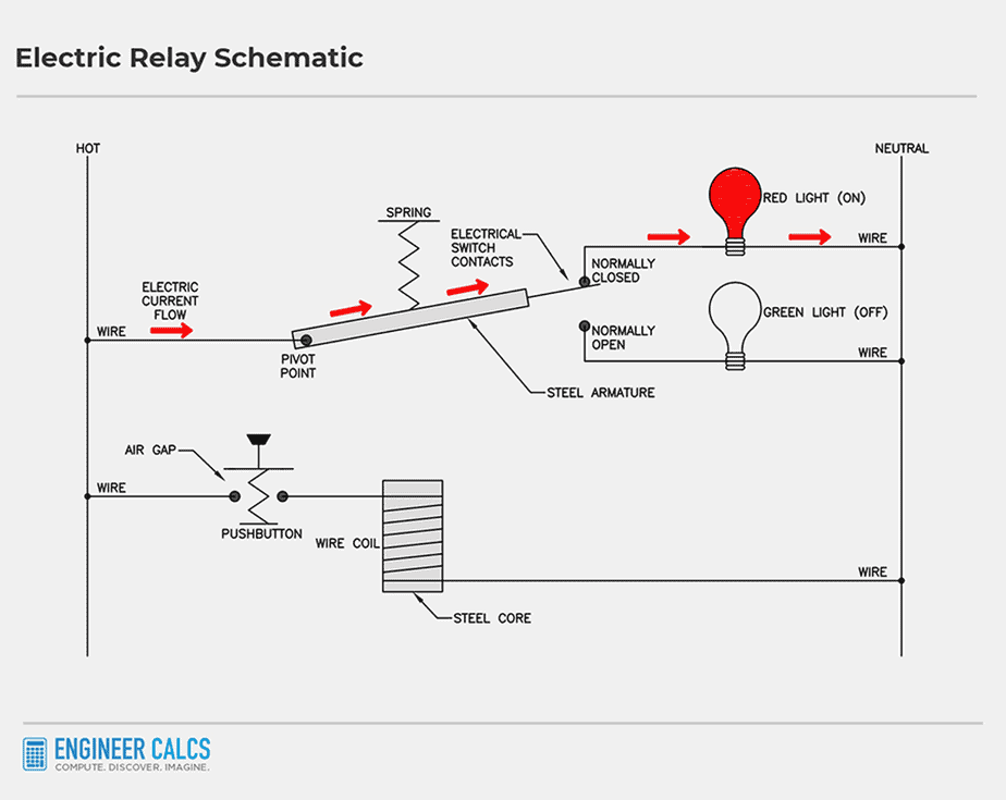 electric relay control schematic 2