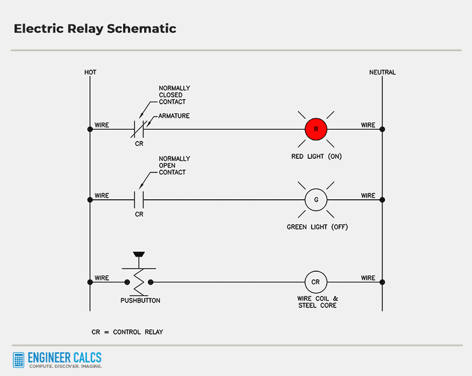 electric relay control schematic 8