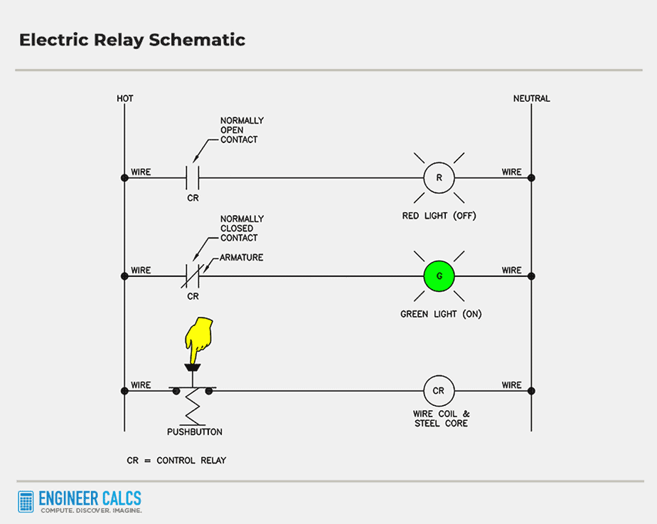 electric relay control schematic 9
