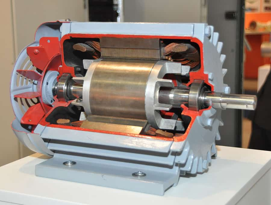 cutaway view of induction motor