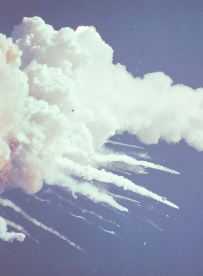 destruction of the space shuttle challenger