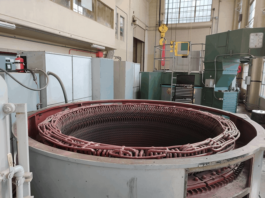 hydroelectric power plant stator