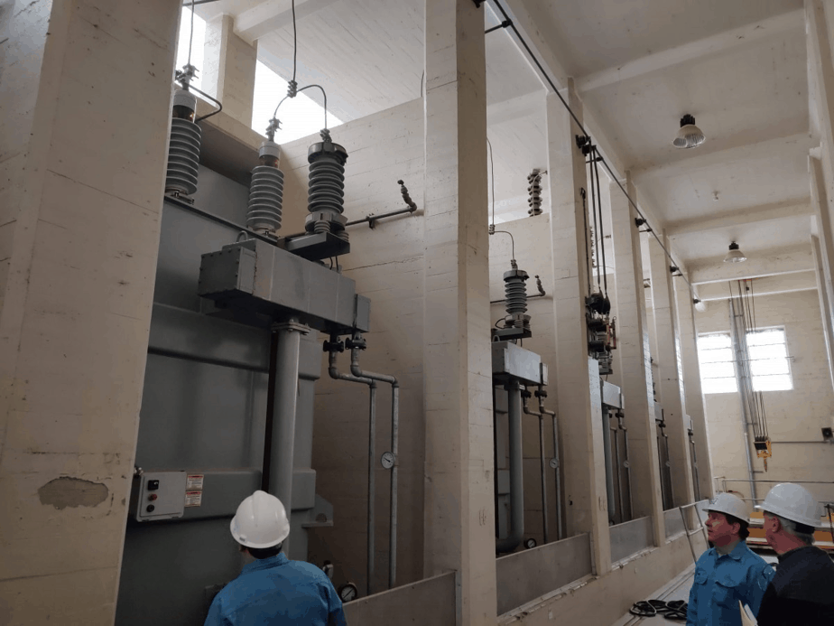 transformers in hydroelectric facility