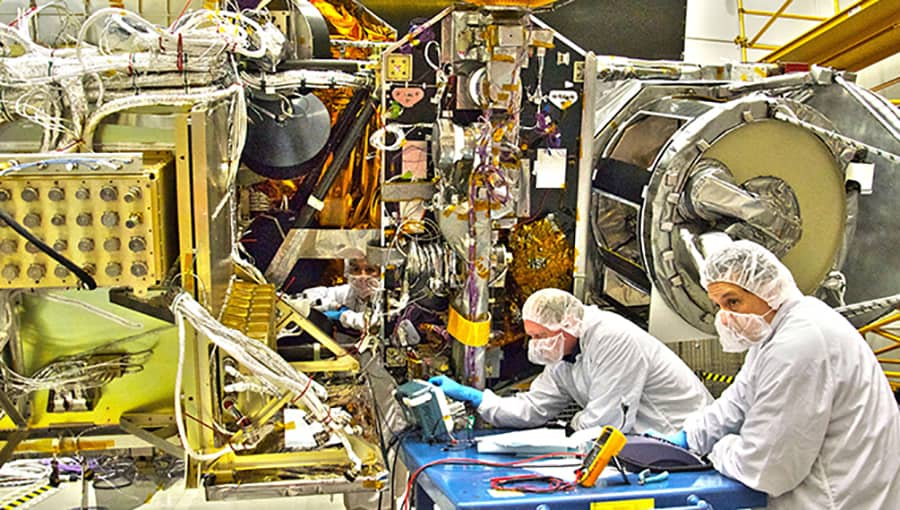NASA engineers working on the GPM core
