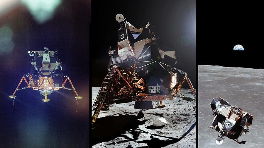 apollo 11 lunar module landing