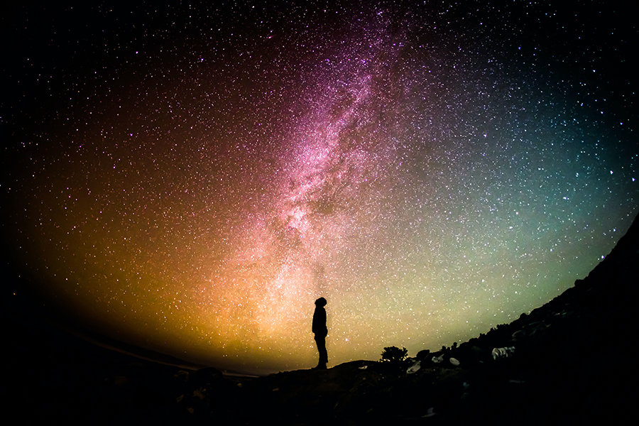 looking into the milky way galaxy