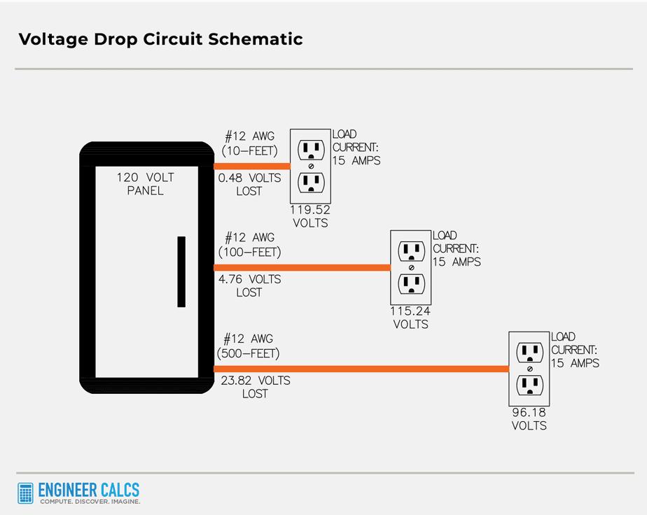 voltage drop circuit schematic