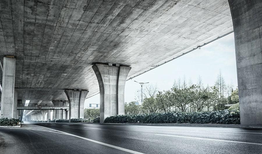 concrete roadway and bridge