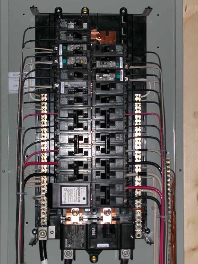 inside electrical panel