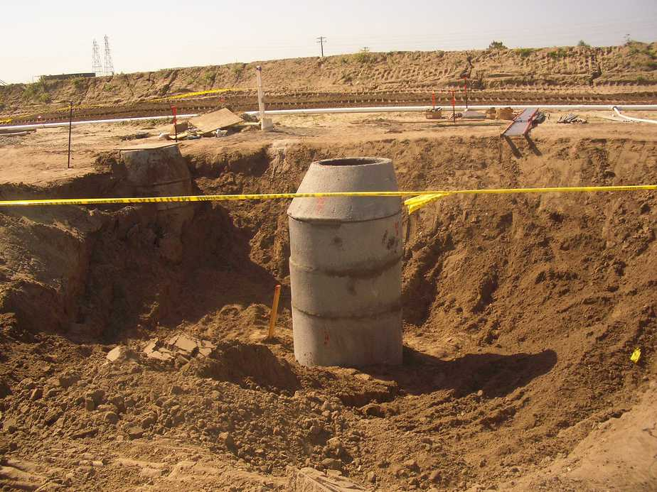 construction site underground facilities