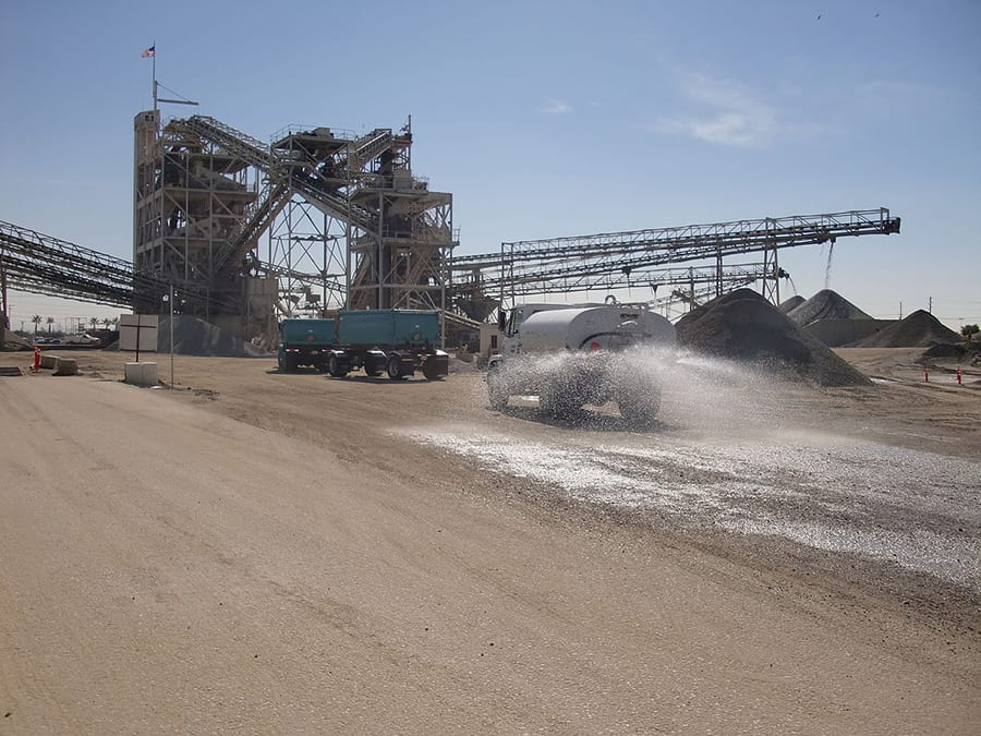 dust control with water truck
