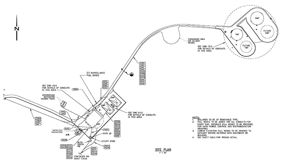 electrical engineering design site plan