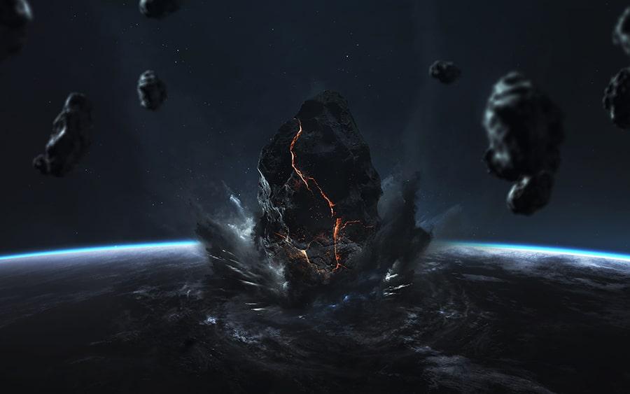 end earth apocalypse asteroid impact