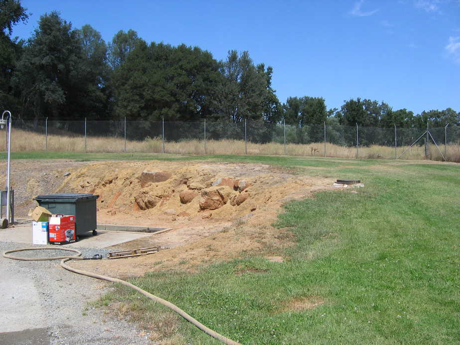 leveling grading construction site