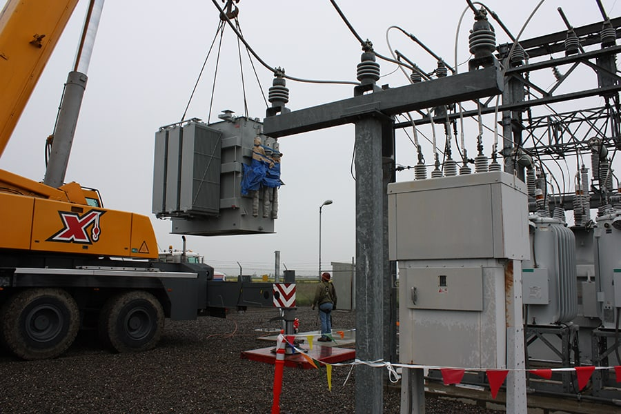 transformer placement in substation