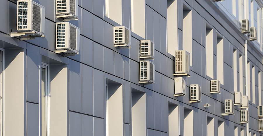 office building window mounted air conditioners