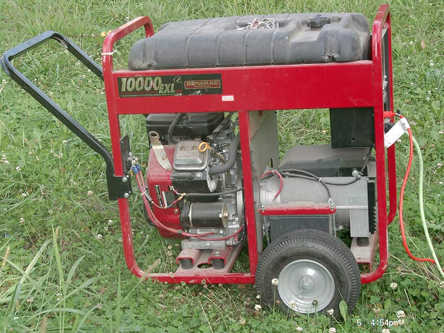 portable electrical generator side view
